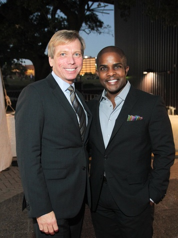 23 Jonathan Glus, left, and Alton LaDay at the Miller Outdoor Theatre Gala October 2013