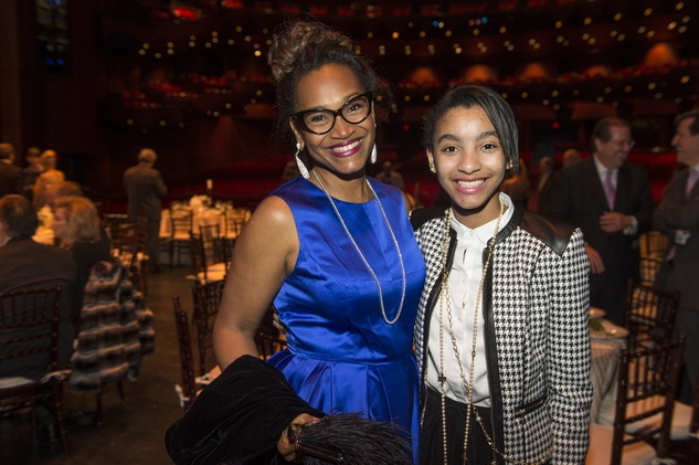 Anita Smith, left, and Joy Smith at the Houston Ballet Jubilee of Dance Onstage Dinner December 2014