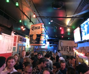 Harvey fundraiser New York, Avenida Cantina, crowd