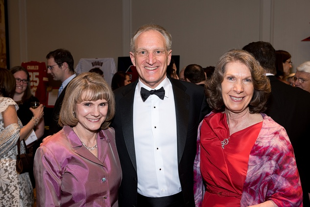 53 Anna Babin, from left, Joel Dinkin and Linda O'Black at the Jewish Community Center Children's Scholarship Ball March 2015