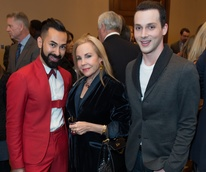 World AIDS Day lunch, Fady Armanious, Carolyn Farb, Jonathan Blake