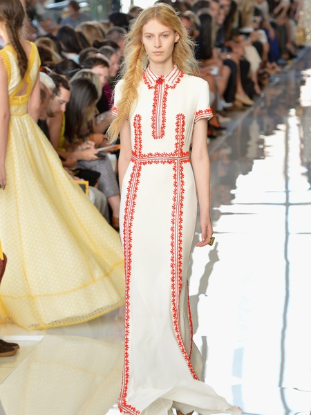 Clifford, Fashion Week spring 2013, Tuesday, Sept. 11, 2012, Tory Burch, long embroidered dress