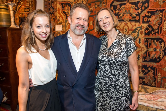 Princess Maria Galitzine, from left, Prince Piotr Galitzine and Archduchess Maria Anna Galitzine
