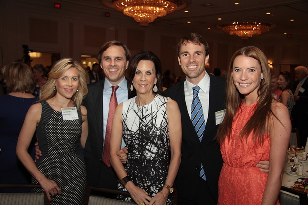 2866 Jennifer and Michael Hanson Jr., from left, Francy Fondren, Burton Hanson and Anah Hanson Witter at the Menninger Luncheon May 2014