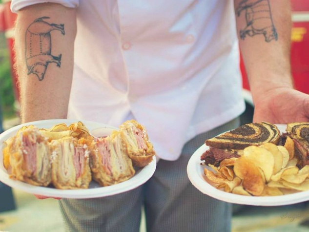 Hey! You Gonna Eat or What?_austin food truck_monte cristo_reuben