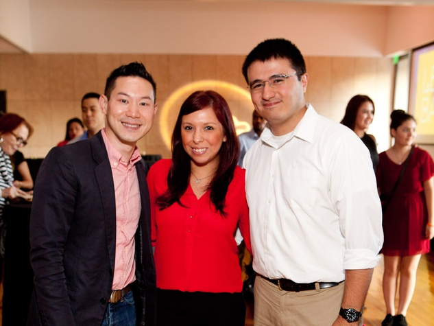 14 Henry Yau, from left, Erika Yanez and Ed Bermudiz at the Leo Bar relaunch party October 2013
