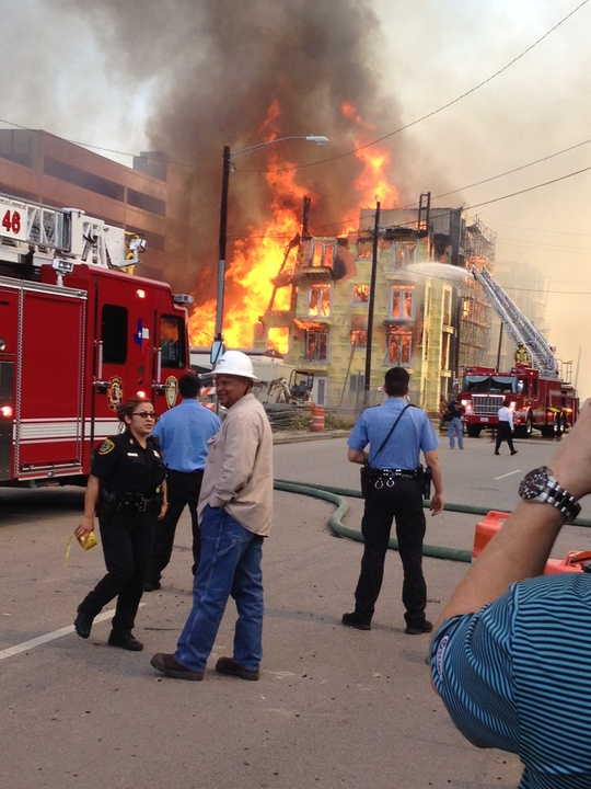News, Montrose apartment fire, March 2014