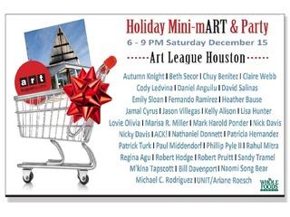 Art League of Houston's Holiday Mini-mART & Party