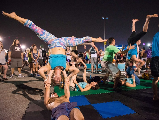Acroyoga at Free Press Summer Fest