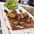 Eleven XI open-faced foie gra sandwich