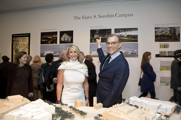 News, Shelby, Museum of Fine Arts donor dinner, Courtney Sarofim, Gary Tinterow, Jan. 2015