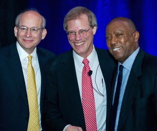 Kinder Institute Luncheon 5/16 David Leebron, Stephen Klineberg, Mayor Sylvester Turner