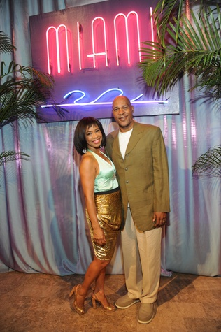 Gina Gaston and Mario Elie at Miami Vice Children's Museum Gala