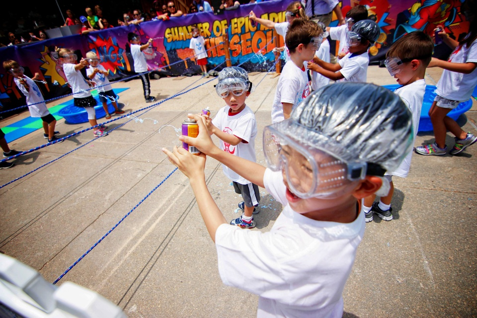 6 Children's Museum with Spiderman Appearance and Silly String Showdown August 2014