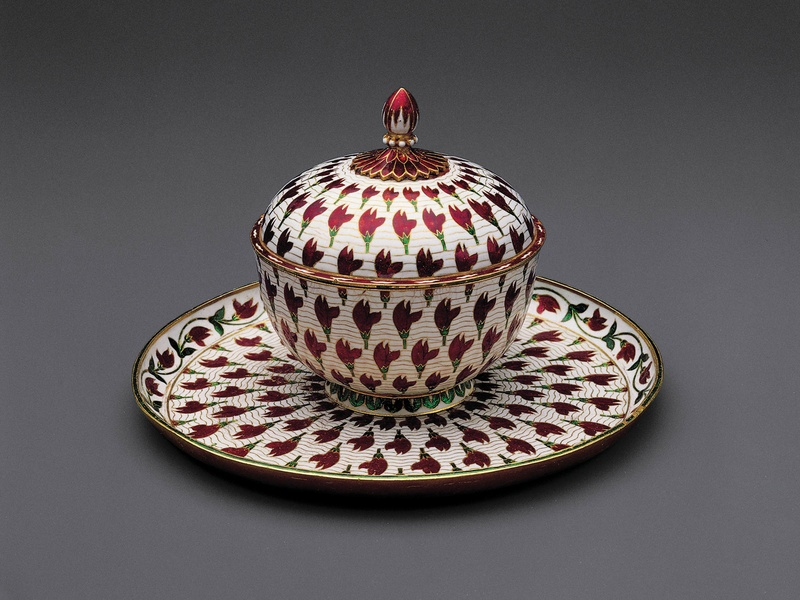 The al-Sabah Collection (Kuwait) at the MFAH, January 2013, Lidded cup and tray