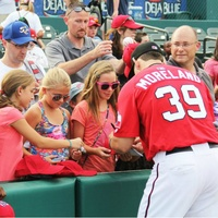 Frisco Rough Rider Mitch Moreland signing autographs