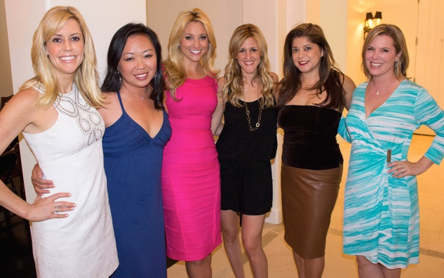 Katie McCall, from left, Miya Shay, Chita Johnson, Courtney Zubowski Haas, Marcy De Luna and Casey Curry at the Bridal Brunch September 201