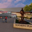 Fertitta Center and Hofheinz Plaza courtesy rendering