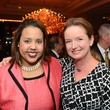 Heather Browne, left, and Katherine Cabaniss at the Children at Risk luncheon October 2014
