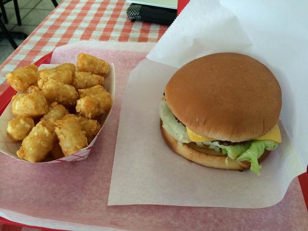 Lucky Burger cheeseburger