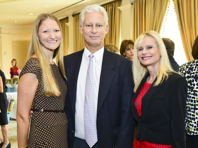 5 Sarah and Bill Hurt, from left, with Jo Lynn Falgout at the Baylor Teen Health Clinic luncheon October 2013