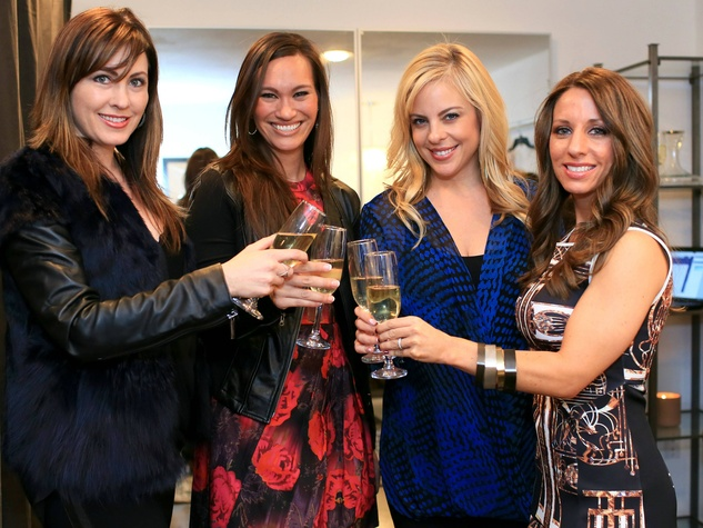 Abi Ferrin, Nina Lowe, Amy Vanderoef, Andrea Isom, Front Door Fashion Party