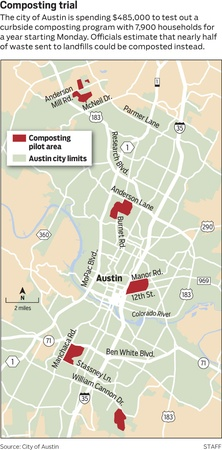 Austin Photo: News_Ryan_Organic waste collection_Jan 2013_pilot map