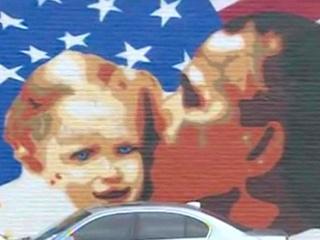 The Breakfast Klub, mural, Obama, February 2013