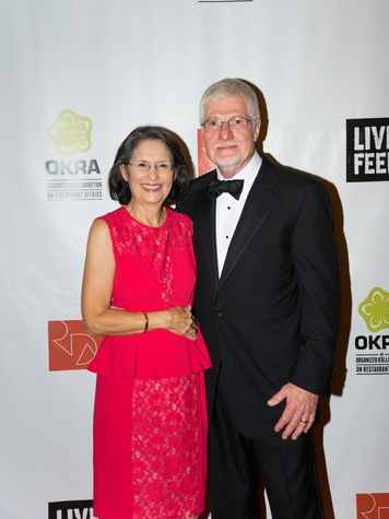 Charlotte and Larry Whaley at the Rice Design Alliance Gala November 2013