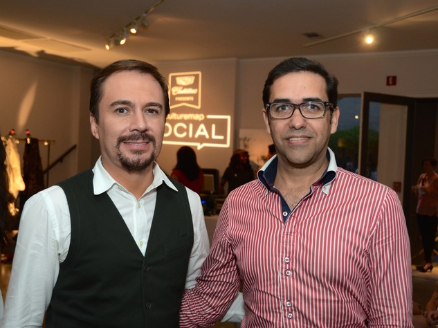 37 Adrian Duenas, left, and Marcelo Saenz at the CultureMap Social at Gremillion and Co. Fine Art March 2015