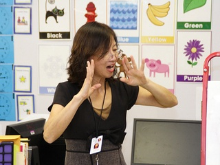 Elaine Lee teaches Mandarin Chinese at DISD
