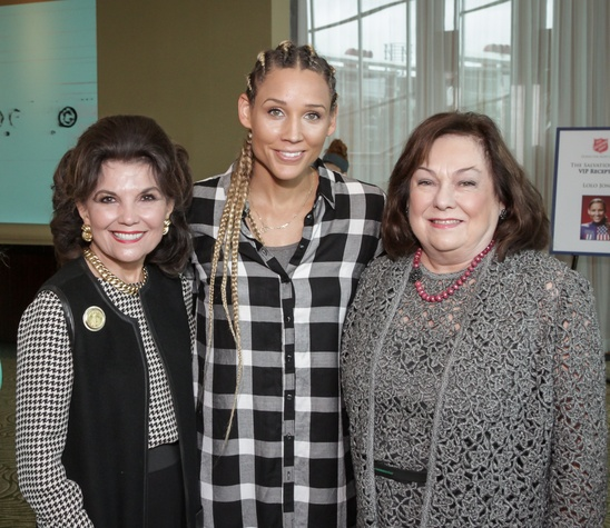 News, Shelby, Salvation Army luncheon, Nov. 2015, Linda McReynolds, Lolo Jones, Rose Cullen