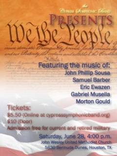 """Cypress Symphonic Band presents """"We the People"""""""