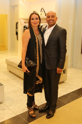 Drs. Jayne and Bobby Kapur at the CancerForward Key To The Cure Kick-off October 2014