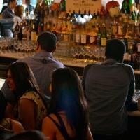 Saint Genevieve Houston people at bar