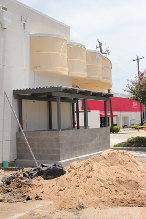 Alabama Theater Construction, Exterior Back, June 2012