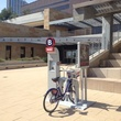 Bike Share Austin demo station at City Hall