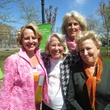 Emily Connor, from left, Liz Smith, NAME and Bette Midler.Ann Richards Memorial Garden in New York May 2014