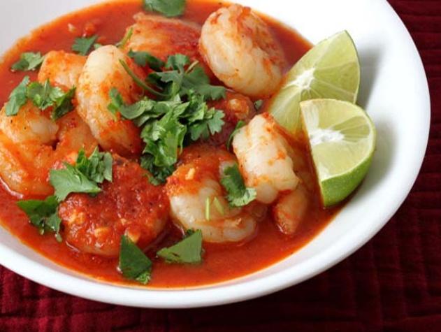 Cubiertos Mexican, shrimp
