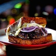 Houston, over the top burgers, June 2017, The Party Melt at Better Luck Tomorrow
