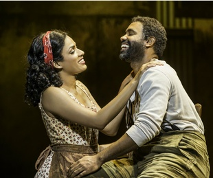 Alicia Hall Moran as Bess and Nathaniel Stampley as Porgy in the The Gershwins' Porgy and Bess