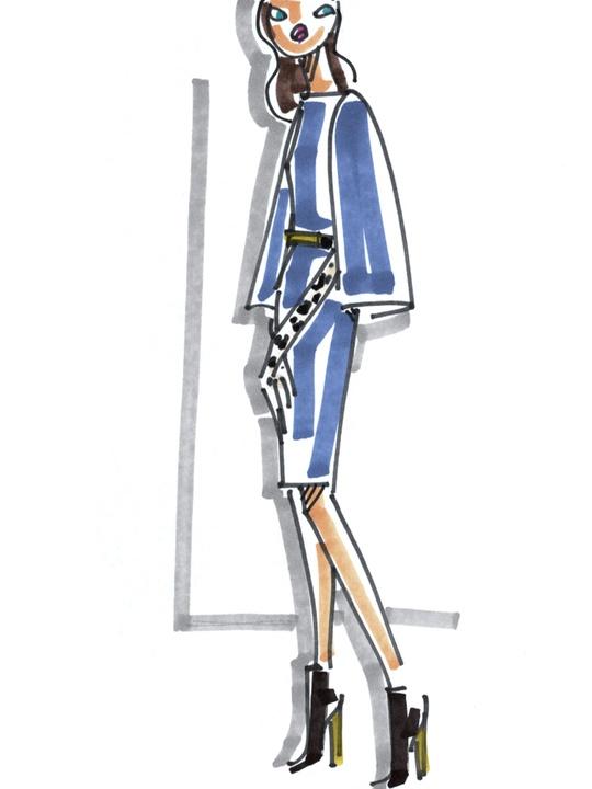 Fashion Week fall 2013, sketches, February 2013, St. John