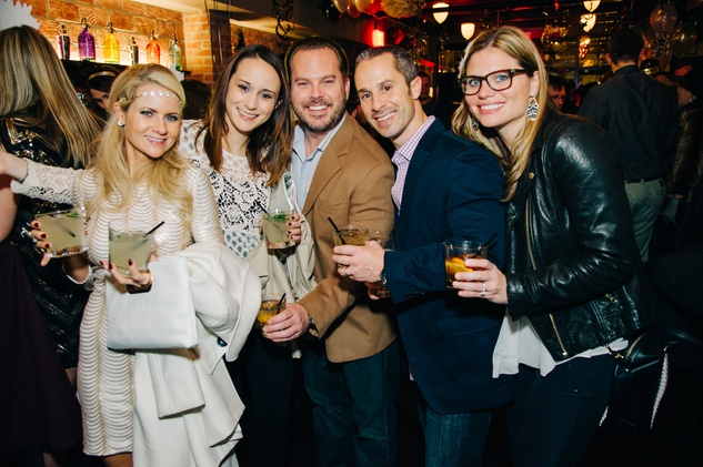 Vicki Callait, from left, Megan Carrol, Bobby Gaillard, Darren Callait and Ryan Matthews at New Year's Eve at Local Pour January 2015