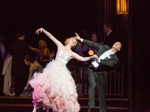 Houston Grand Opera Die Fledermaus October 2013 Krissy Richmond, Ginger Rogers; Phillip Broomhead, Fred Astaire