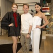 Adam Lippes and models at luncheon