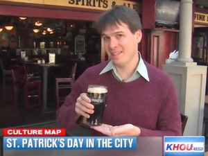 Tyler Rudick, CultureMap Moment, St. Patrick&#39;s Day