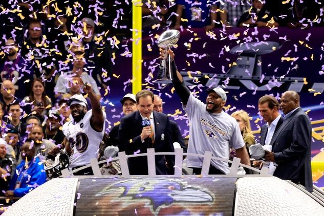 Ray Lewis Jim Nantz Super Bowl