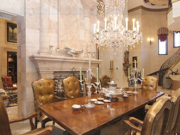 Avery Johnson mansion for sale The Woodlands Spring June 2013 dining room