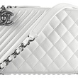 Chanel white leather camera case