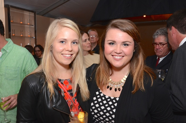 Emilie Bell, left, and Sara Smelser at the Butler Brothers party November 2014